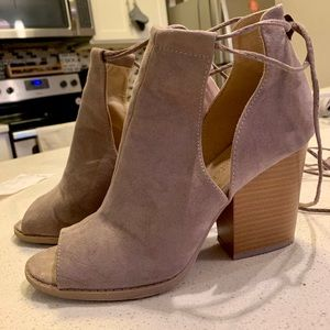 Altar'd State suede ankle wrap booties